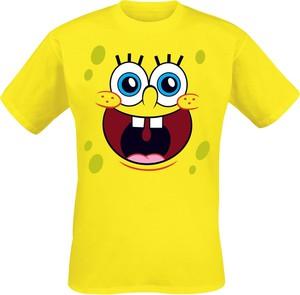 Żółty t-shirt Emp z krótkim rękawem z bawełny