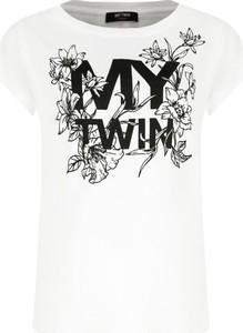 Bluzka Mytwin Twinset z krótkim rękawem w młodzieżowym stylu