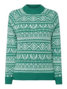 Zielony sweter J Crew z nadrukiem w stylu casual