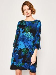 Sukienka Desigual z okrągłym dekoltem w stylu casual
