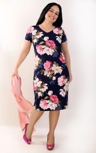 Sukienka Exclusive Line z krótkim rękawem