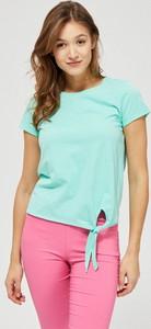 T-shirt Moodo z krótkim rękawem z okrągłym dekoltem z bawełny