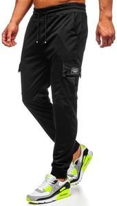 Czarne spodnie sportowe Denley w sportowym stylu
