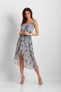 Sukienka Ivon asymetryczna z szyfonu