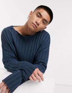 Niebieski sweter Asos z jeansu