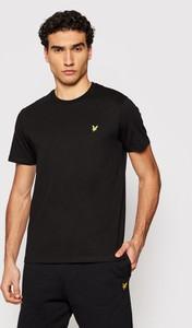 Czarny t-shirt Lyle & Scott z krótkim rękawem
