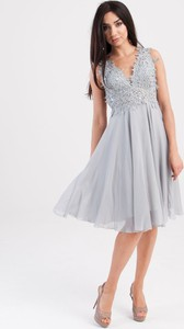 Sukienka Butik Ecru midi rozkloszowana