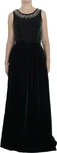 Czarna sukienka Dolce & Gabbana maxi