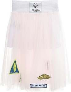 Różowa spódnica Mr&mrs Italy z tiulu