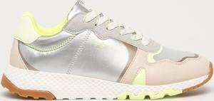 Buty sportowe Pepe Jeans na platformie ze skóry ekologicznej