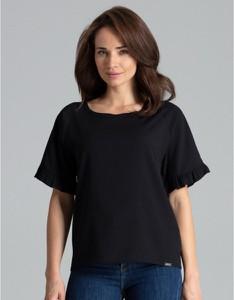 Bluzka LENITIF w stylu casual z okrągłym dekoltem