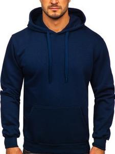 Granatowa bluza Denley w stylu casual z bawełny