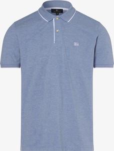 Niebieska koszulka polo Nils Sundström z krótkim rękawem