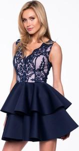 Sukienka Premiera Dona mini bez rękawów z tkaniny