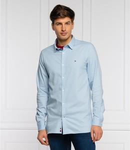 Niebieska koszula Tommy Hilfiger z bawełny z długim rękawem
