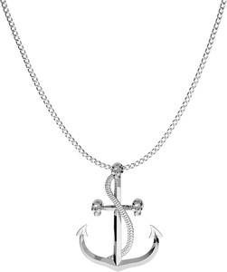 GIORRE SREBRNY NASZYJNIK KOTWICA 925 : Długość (cm) - 60, Kolor pokrycia srebra - Pokrycie Jasnym Rodem