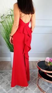 Czerwona sukienka Hypnotize Butik bez rękawów