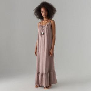 Sukienka Mohito z bawełny bez rękawów maxi