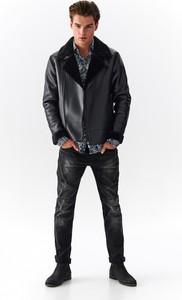 Czarna kurtka Top Secret w stylu casual ze skóry ekologicznej