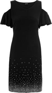 Sukienka bonprix BODYFLIRT z okrągłym dekoltem z krótkim rękawem