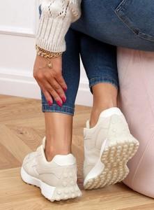 Buty sportowe Buty Damskie ze skóry ekologicznej z płaską podeszwą