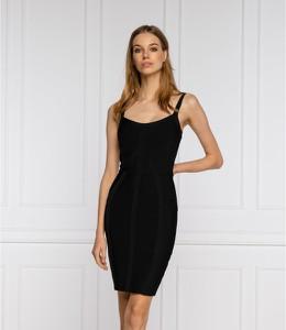 Czarna sukienka Guess by Marciano w stylu casual na ramiączkach