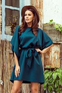Sukienka Ptakmoda.com z długim rękawem z okrągłym dekoltem oversize
