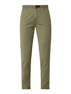 Zielone spodnie Esprit z bawełny