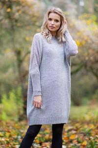 Sukienka Fobya z wełny w stylu casual midi