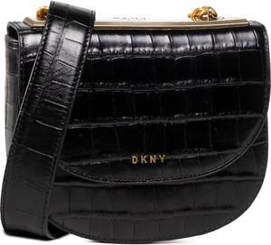 Czarna torebka DKNY na ramię średnia