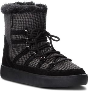 Czarne śniegowce Pepe Jeans z zamszu