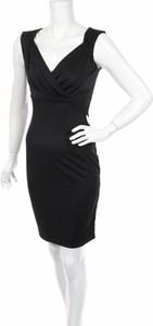 Czarna sukienka Fashion Mia kopertowa mini