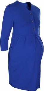 Niebieska sukienka New York Style w stylu casual