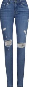 Jeansy Pepe Jeans z tkaniny w street stylu