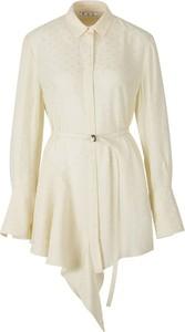Sukienka Off White z długim rękawem