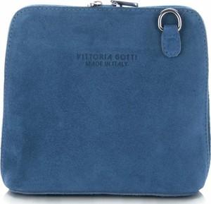 Niebieska torebka VITTORIA GOTTI na ramię