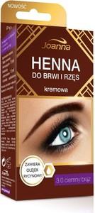 Joanna, henna do brwi i rzęs kremowa, nr 3.0, ciemny brąz, 15 ml