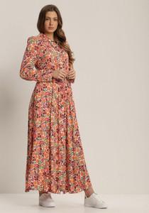 Sukienka Renee maxi z długim rękawem z kołnierzykiem