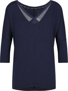 Niebieska bluzka Calvin Klein Underwear z długim rękawem