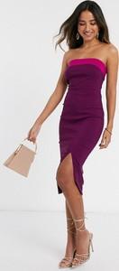 Fioletowa sukienka Vesper bez rękawów midi