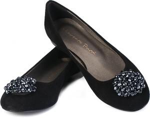 Czarne baleriny Lafemmeshoes z zamszu w stylu casual