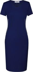 Sukienka Fokus midi z krótkim rękawem