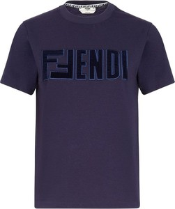 Fioletowy t-shirt Fendi