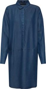 Niebieska sukienka Opus w stylu casual koszulowa