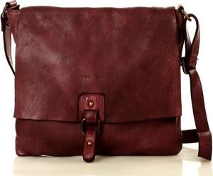 Czerwona torebka Marco Mazzini Handmade na ramię średnia