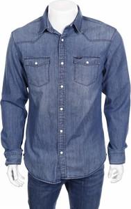 Niebieska koszula Antonio Banderas By Selected Homme z klasycznym kołnierzykiem