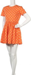 Sukienka Jeremy Scott z krótkim rękawem w stylu casual z okrągłym dekoltem