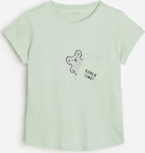Niebieska bluzka dziecięca Reserved dla dziewczynek