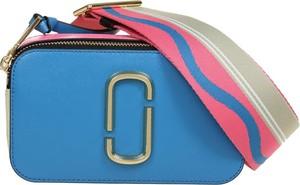 Niebieska torebka Marc Jacobs na ramię matowa średnia