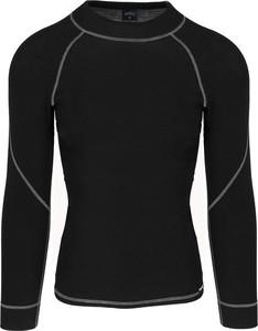Czarny t-shirt Wexim z wełny